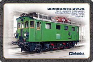 """Blechschild """"Elektrolokomotive 1060.001"""""""