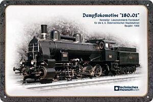 "Blechschild ""Dampflokomotive 180.01"""