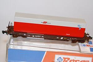 """ÖBB Taschenwagen Sdgkkmss beladen mit 40 Ft. Container """"Rail Cargo Austria"""""""
