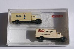 2 klassische Koffer LKW