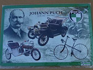 """Blechschild """"Johann Puch"""""""