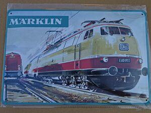 """Blechschild """"MÄRKLIN - Lok E03 002"""""""