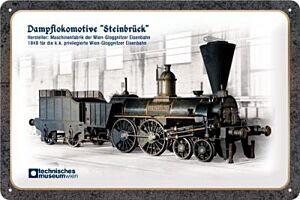 "Blechschild ""Dampflokomotive Steinbrück"""
